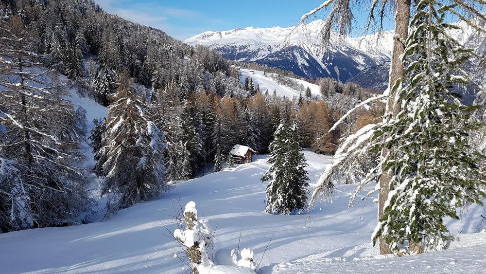 Winterlandschaft in Unterbäch - © Unterbäch Tourismus