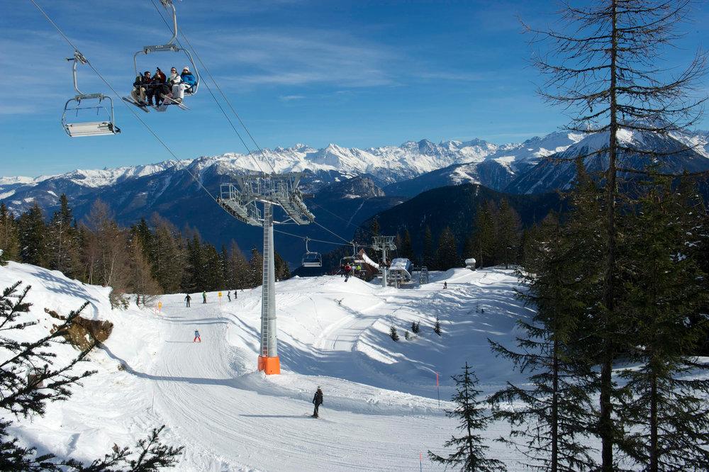 Das Skigebiet Les Marécottes - Salvan liegt ganz im Süden der Schweiz, wenige Kilometer von Martigny entfernt - © Vallée du Trient Tourisme SA