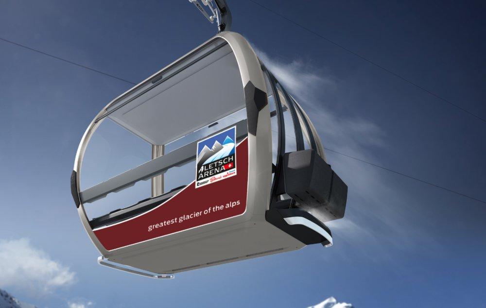 Nová gondola v Aletsch Arene - © Aletsch Arena