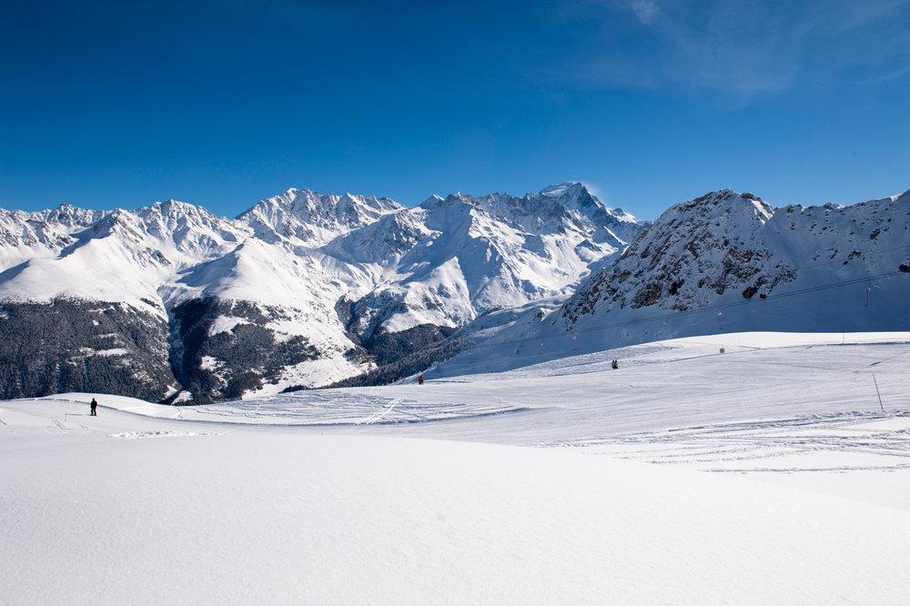 Tolle Ausblicke im Skigebiet Eindrücke aus dem Skigebiet Vichères-Liddes  - © Tele Vichères-Liddes