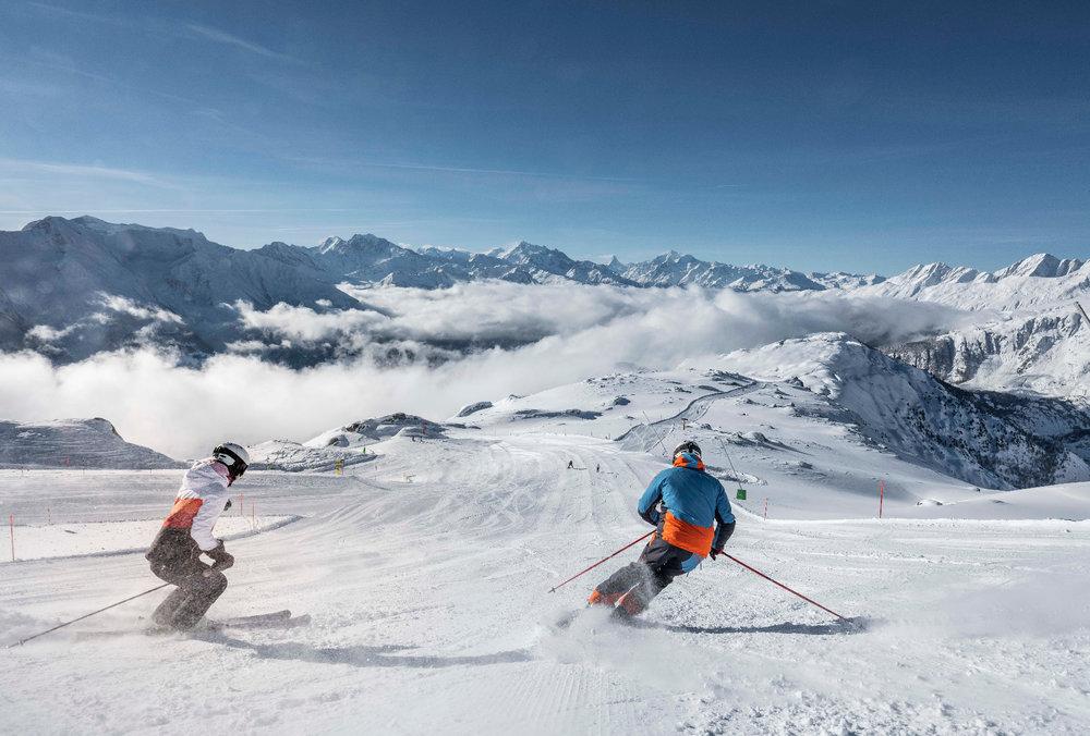 Skifahren in der Aletsch Arena - © Christian Pfammatter/Aletsch Arena