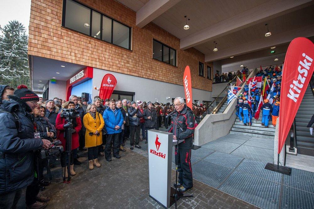 Dr. Josef Burger während der Eröffnung am 14.12.2019 - © Bergbahn AG Kitzbühel | Michael Werlberg