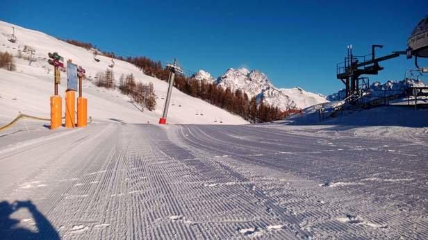 Puy-Saint-Vincent - Excellents conditions avec de la neige tomb - © Anaïs