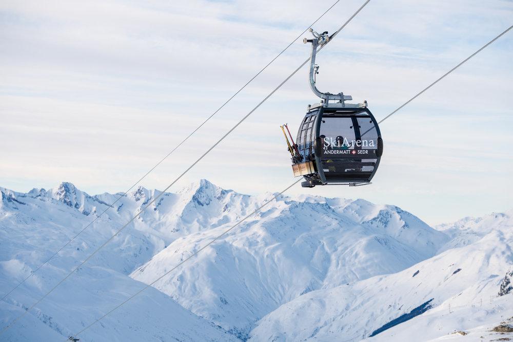 Der Gütsch-Express in der SkiArena Andermatt-Sedrun - © SkiArena Andermatt-Sedrun