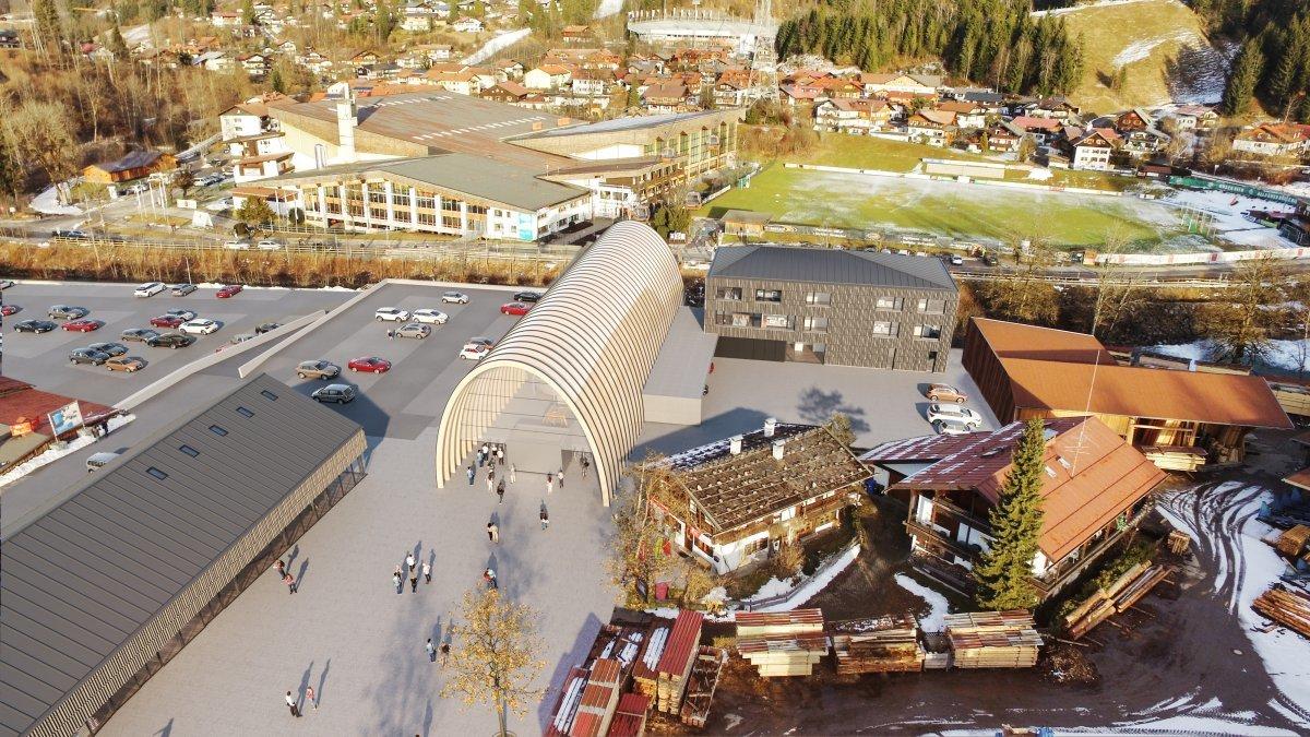 Pläne für die neue Talstation der Nebelhornbahn - © OBERSTDORF KLEINWALSERTAL BERGBAHNEN