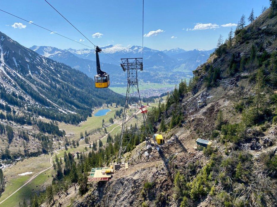 Die alte Nebelhornbahn wird ersetzt - © OBERSTDORF KLEINWALSERTAL BERGBAHNEN