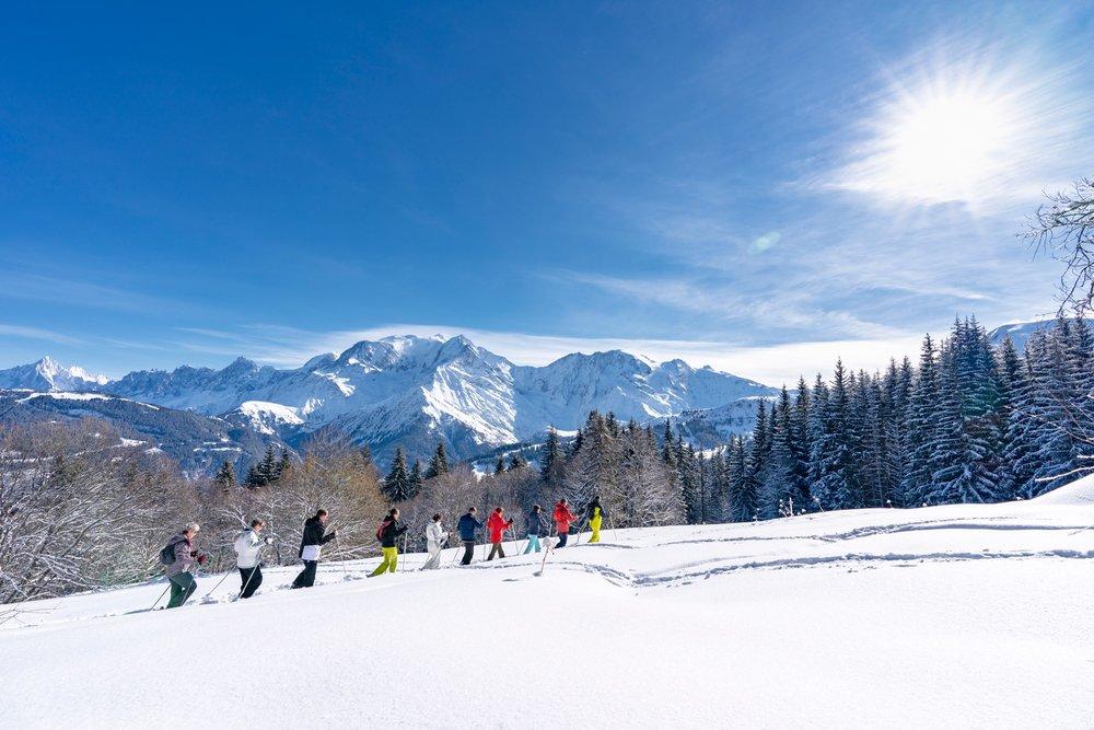 randonnée dans la neige à Saint-Gervais - © Boris Molinier