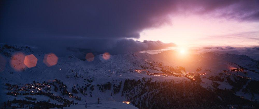 La Plagne-panoramique-nuit - © La Plagne/O-Allamand