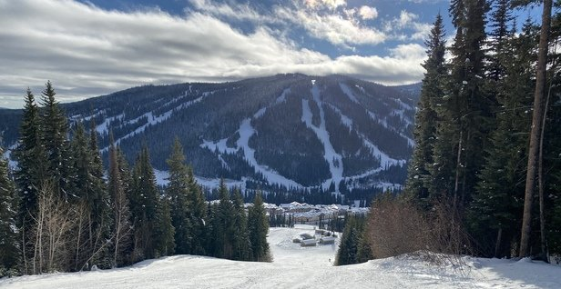 Sun Peaks - Variety of snow conditions but mainly hard packed with machine grooming. The gladed runs offer the most powder opportunities. - © Anonymous