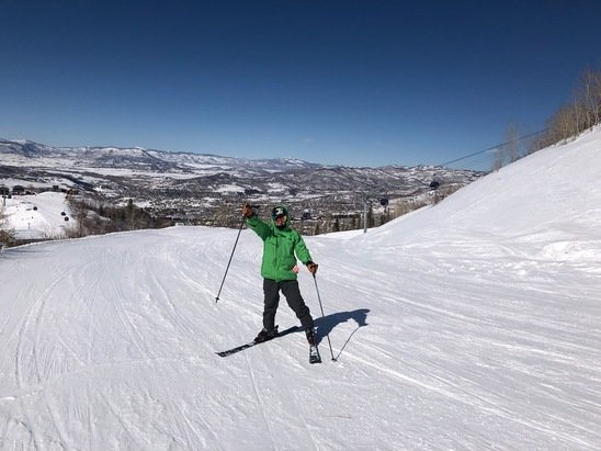 Steamboat - Steep and fast,conditions in the front were like the northeast, hard packed and grindy. Back had some great powder stashes,especially the xmas tree bowl.lot of terrain and efficient employees - © Boston bob