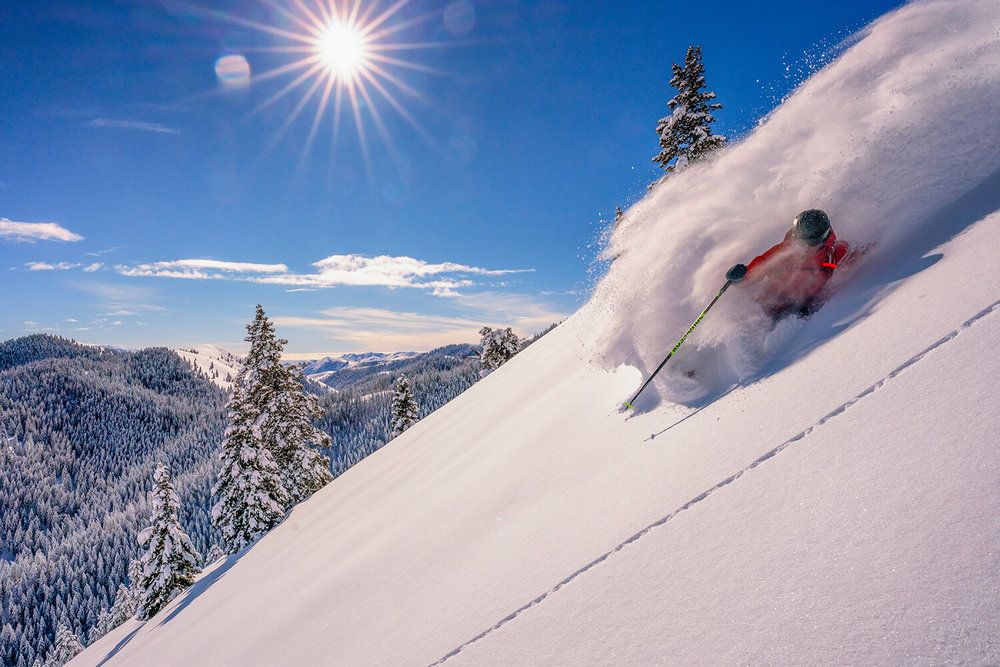 Blue skies and powder make for a great day on the mountain. - © Sun Valley