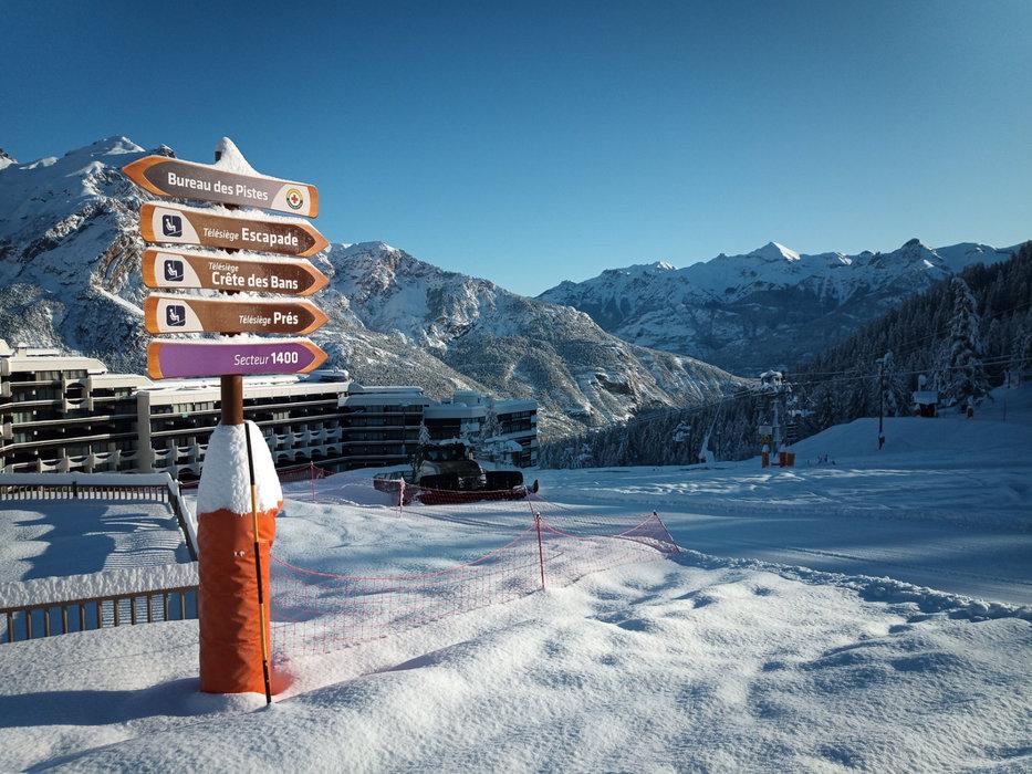 Un dernier coup de fraise et l'équipe de Puy Saint Vincent vous prépare un véritable billard pour ce week-end ! - © Facebook Domaine skiable de Puy Saint Vincent