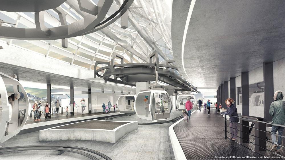 Die neue Mittelstation der Olang-Bahn am Kronplatz - © studio schlotthauser matthiessen - architecturemade