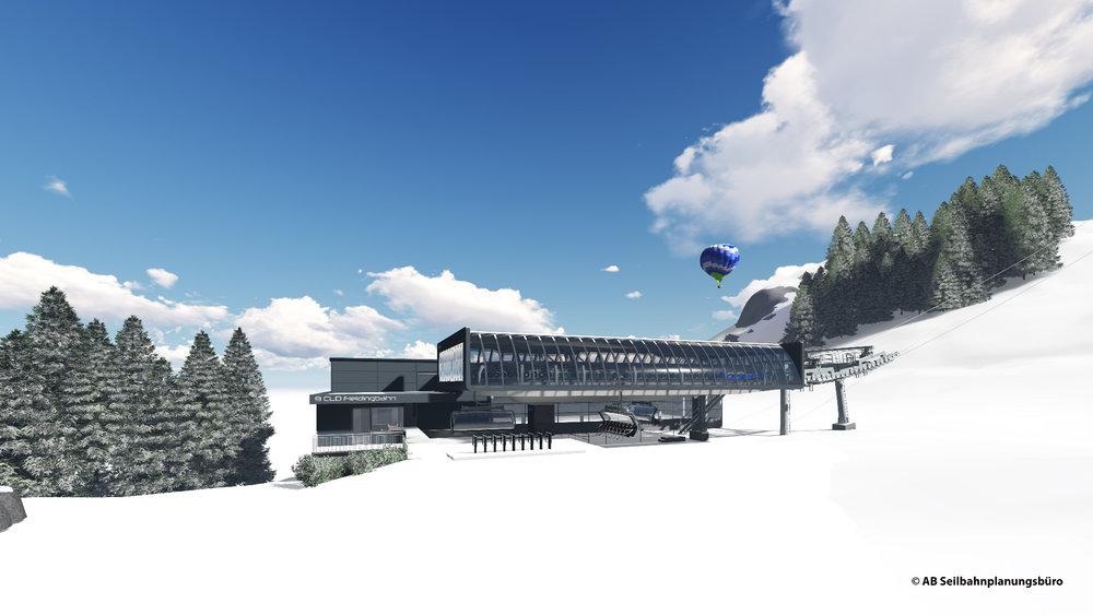 Die Talstation der neuen Fleidingbahn in Westendorf - © © AB Seilbahnplanungsbüro/Skiwelt Wilder Kaiser