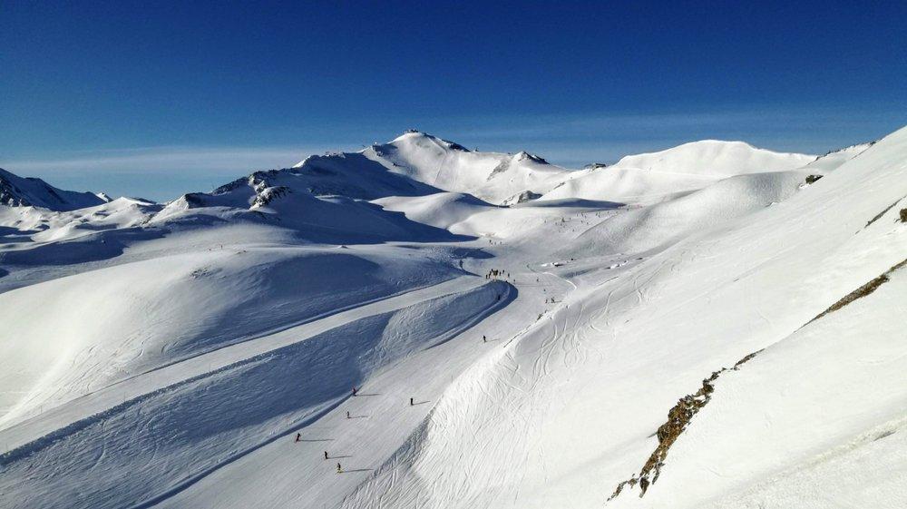 Greitspitz (2.872 m npm) to najwyższy szczyt w ośrodku Ischgl/Samnaun - © Tomasz Wojciechowski