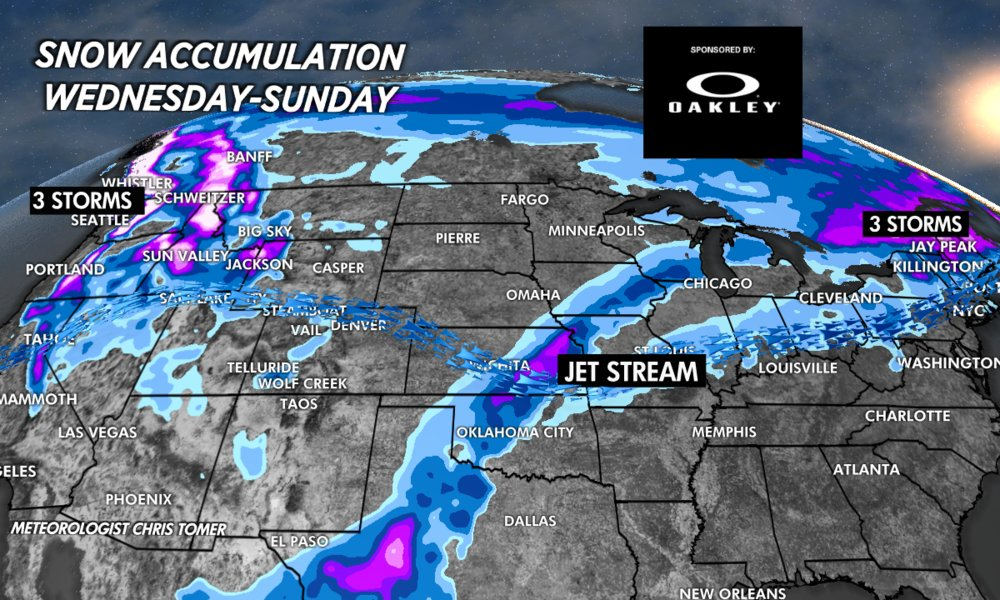 Multiple snow storms grace the PNW for the first weekend of the year.  - © Meteorologist Chris Tomer