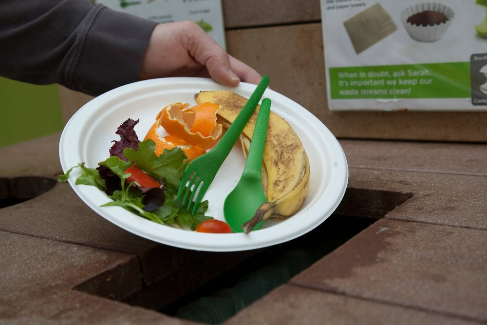 To make it easy for resort guests to participate in composting efforts, Vail Resorts is using Eco-Products compostable food service ware made from renewable resources. - © Eco-Products / Stevens Pass