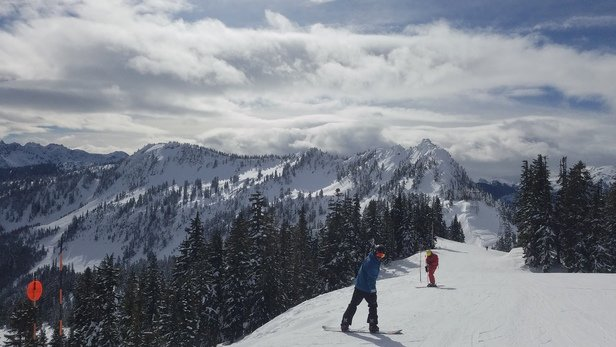 Stevens Pass Resort - Beautiful sunny morning with no lift lines and plenty of fun corduroy.  - © Brian Geppert