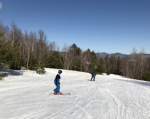 Mt. Abram Ski Resort - Beautiful sunny Sunday for spring skiing - the groomers have done a grand job of fighting Mother Nature's riding temps. Whole mountain to ourselves and it was a day to remember! They're open one more week - make the trip up!    - © Sarah O.