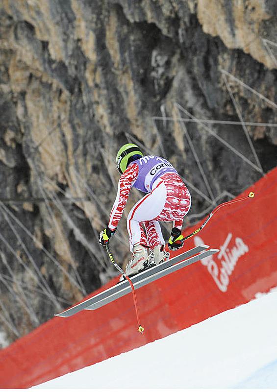 Anna Fenninger in Cortina - © Alain GROSCLAUDE/AGENCE ZOOM