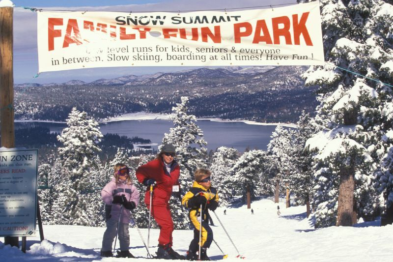 Family fun at Snow Summit, California