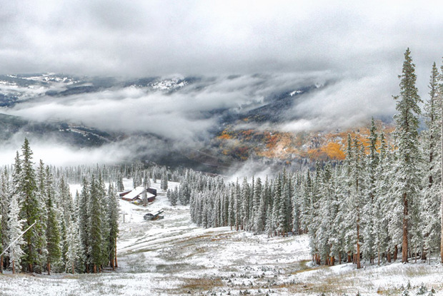 Snowfall early in the morning on Copper Mountain - © Tripp Fay