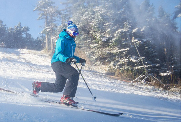 The first few turns at Killington happened over the weekend for season pass members - © Killington Resort