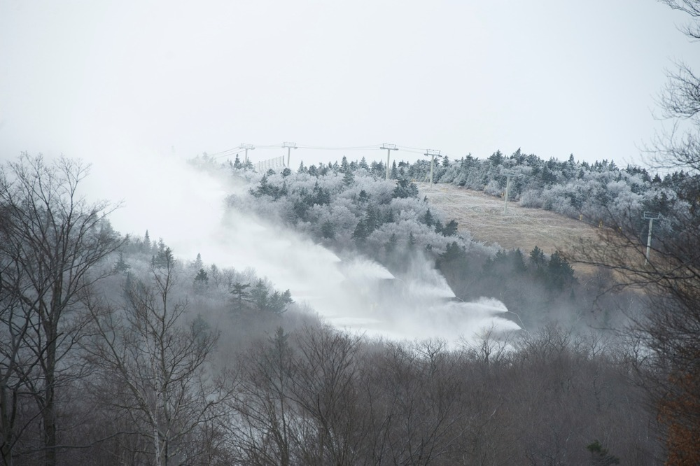 Snowmaking at Stratton Mountain Resort. Photo Courtesy of Stratton Mountain Resort.