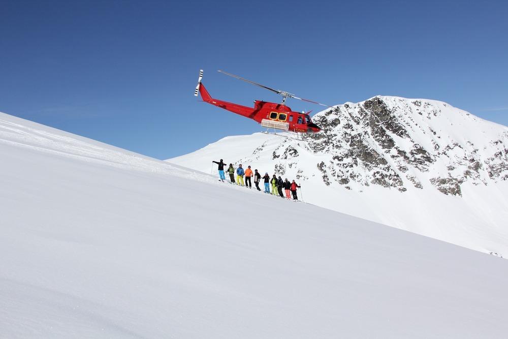 The chopper provides endless terrain at Whistler Heli-Skiing - ©Darryl Brennan