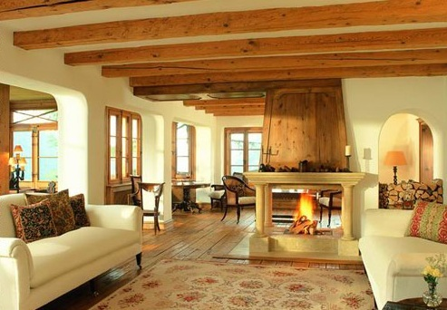 Chalet Eugenia, Davos - living area - © The Oxford Ski Company
