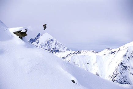 Huge air with Mica Heli-Skiing. - © Eric Berger