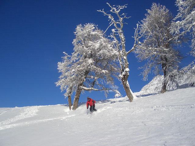 A skier at La Robella, SUI