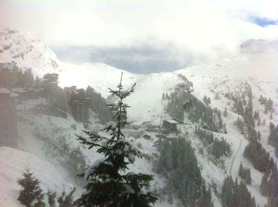 Snow clouds over Avoriaz. Nov. 27, 2012