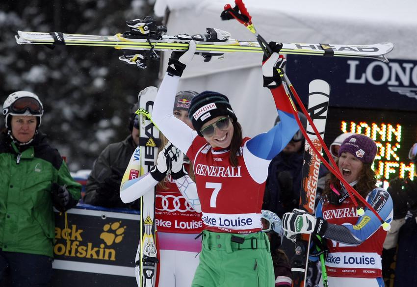 Marianne Kaufmann-Abderhalden ist beste Schweizerin und als Dritte einmal auf dem Stockerl von Lake Louise - © AGENCE ZOOM