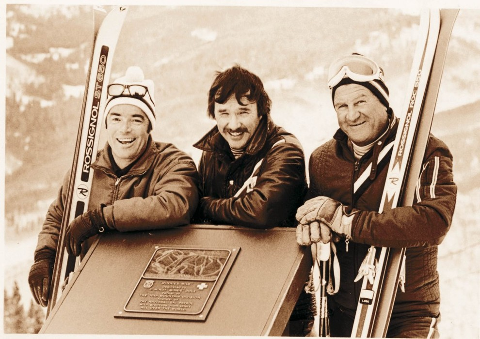 Pete Seibert, one of Vail's founders, is on the left. - © Vail Resorts