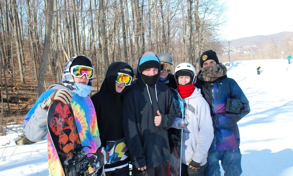 The mountain's always better when you're chilling with friends. Photo Courtesy of Mountain Creek.
