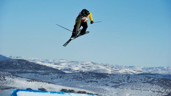 Olenick gets massive air at the 2011 World Championships in Park City. She looks to return to top form in 2013. - © U.S. Ski Team