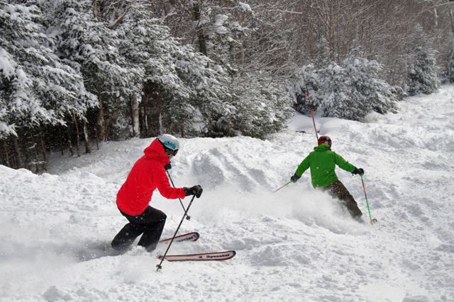 "Sugarbush received over 97"" of natural snow in December alone. Taken: December 25, 2012. Photo Courtesy of Sugarbush."