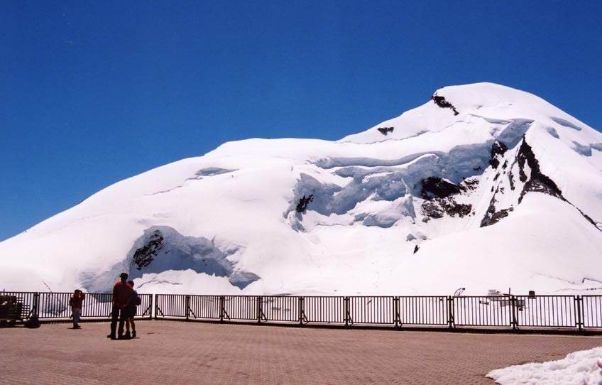 Saas Fee offers summer skiing and sightseeing.