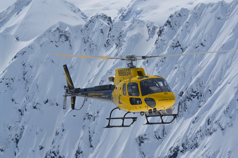 The chopper at Silverton Mountain. - © Silverton Mountain