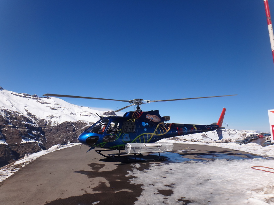 The chopper in Valle Nevado. - © Valle Nevado