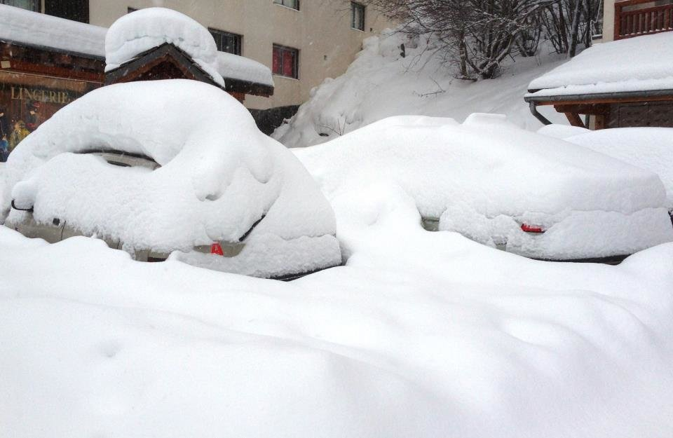 Powder is piling up in Les 2 Alpes. Jan. 11, 2013