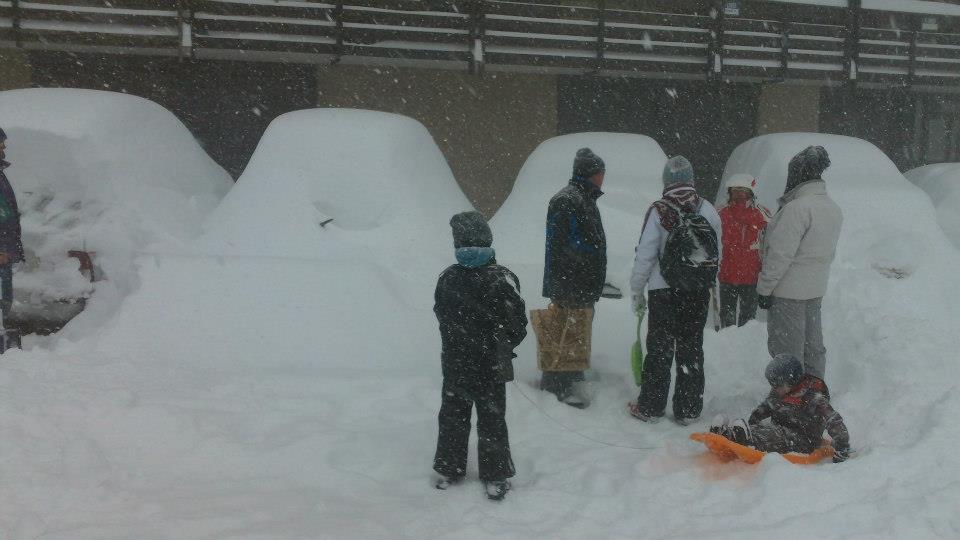 Chutes de neige du 15 janvier 2013 - Saint Lary