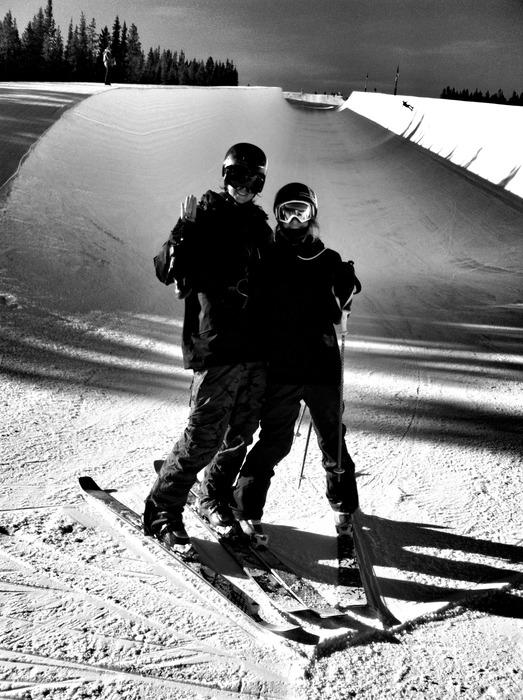 Brita Sigourney and I in Breckenridge last week during a team camp doing a little training. - © Alex Deibold
