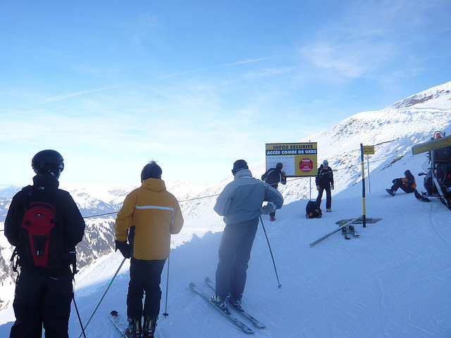 Skiers at Gers, Flaine. - © Skiology
