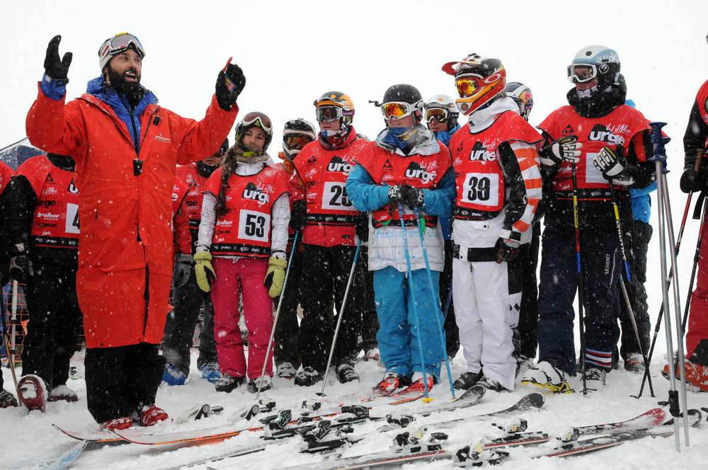 Dernier briefing avant le départ du Val d'Allos Urge Enduro Ski - © Tribesportgroup / OT de Val d'Allos