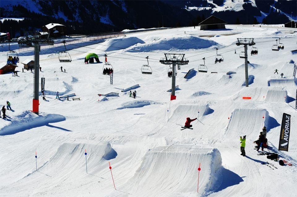 Vue sur le snowpark d'Avoriaz - © © Avoriaz Snowpark