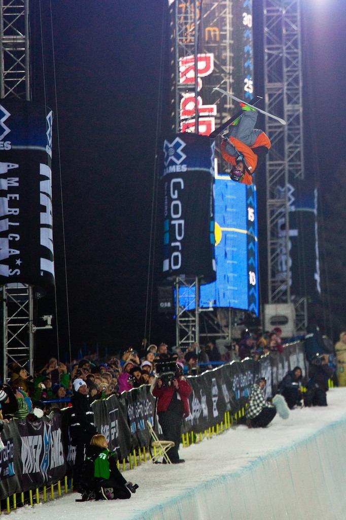 Kevin Rolland. Ski superpipe finals. - © Jeremy Swanson