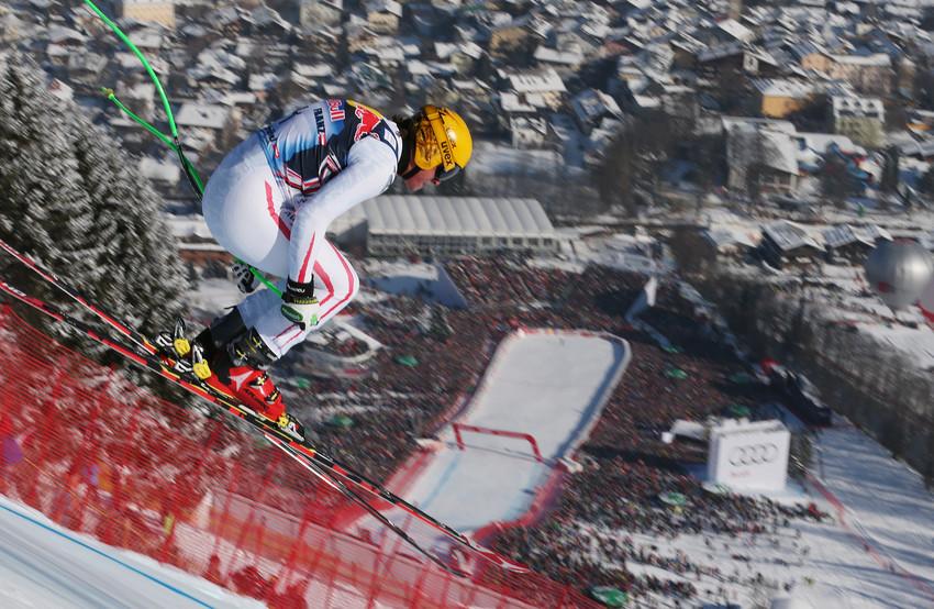 Max Franz zeigte auf der Streif eine starke Leistung und wurde Fünfter - © Agence Zoom / Christophe Pallot