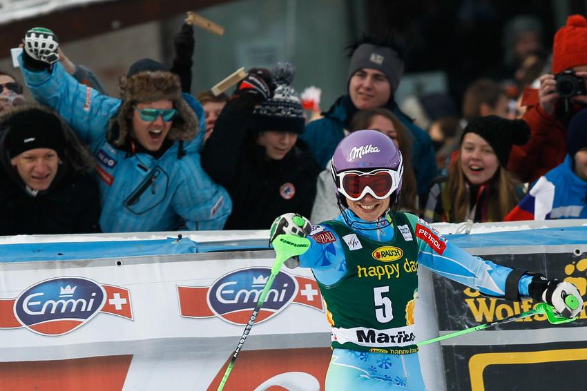 Maze jubelt beim Heimspiel mit ihren Fans: Im Slalom gelingt der Heimsieg - © Stanko GRUDEN/AGENCE ZOOM